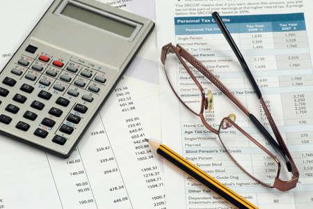 hoja de calculo: espacio de trabajo de contable. Declaraci�n, c�lculos y gastos