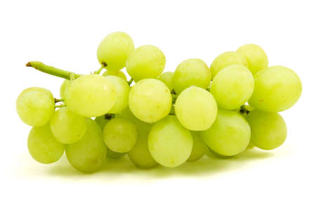 sappy: Green grapes on white background close up shoot