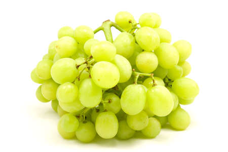 isoleted:   fresh green grapes isoleted on white background Stock Photo