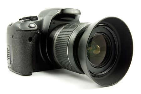 photo camera: fotocamera digitale isolata su sfondo bianco Archivio Fotografico
