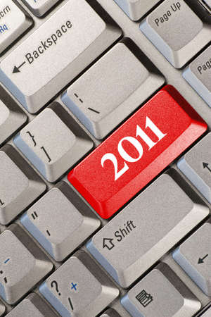Computer keyboard with 2011 key - holiday concept Stock Photo - 8439855