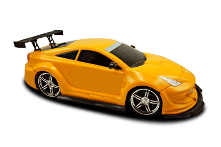 yellow fast sports car over a white background Stock Photo - 8729559