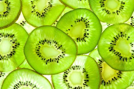 Abstracte foto van een groen kiwifruit