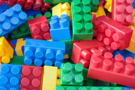 plastic bricks: Photo of toy - various colorful plastic bricks.