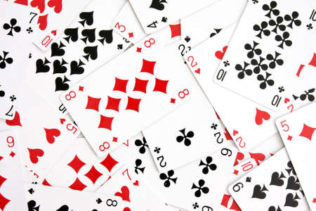 randomly:  background made with playing cards randomly displaced