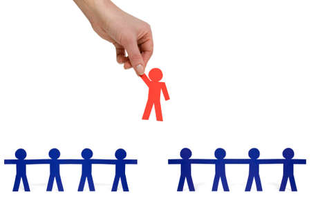 candidate:  Human Resources concept: choosing the perfect candidate for the job