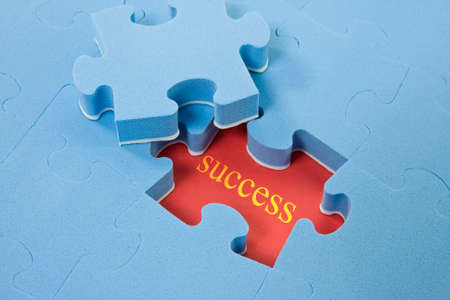 Piece of puzzle of the success, growth, development, opportunity, and leadership photo