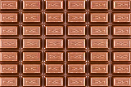 close-up texture of dark brown chocolate bar  photo