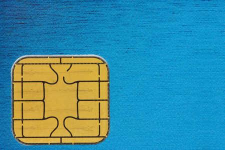 close-up van een credit card chip Stockfoto