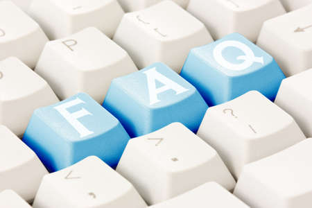 Computer keyboard with a FAQ text on the keys Stock Photo - 15195284