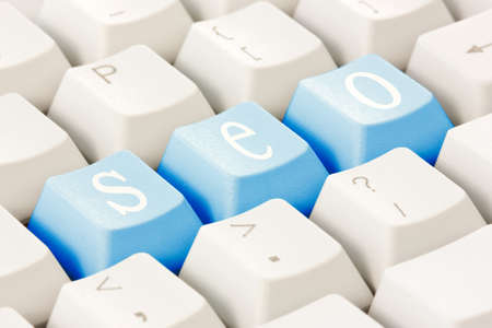 Search engine optimization concept. SEO buttons on the keyboard. Stock Photo - 15657038