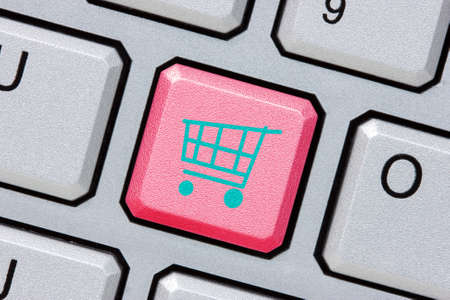 Keyboard with red key for  internet shopping Stock Photo - 17452123