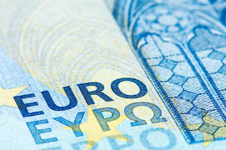 twenty euro banknote: Detailed close up of a twenty Euro banknote from Europe serie
