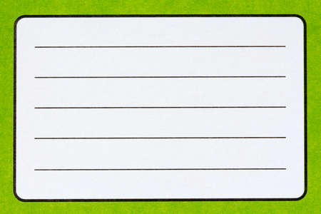 exercise book: Blank name label of green Exercise book