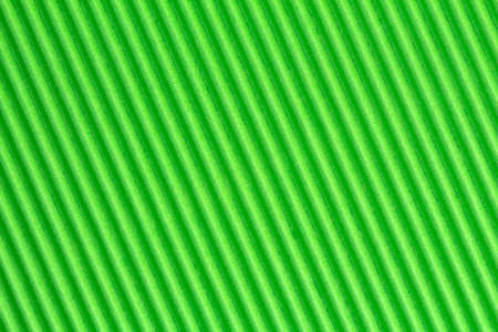 crimp: Green textured corrugate cardboard, can be used as background Stock Photo