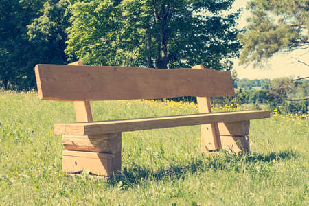 openspace: Empty wooden bench at park,nice place for resting