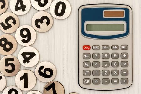 Digital calculator and group of metal numbers