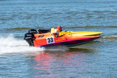 KUPISKIS, LITHUANIA: 23th June 2019 Powerboats racing at Baltic States Championship Redactioneel