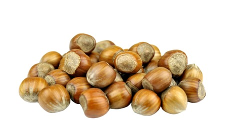 filbert: Hazelnuts also called cob or filbert nuts. Stock Photo