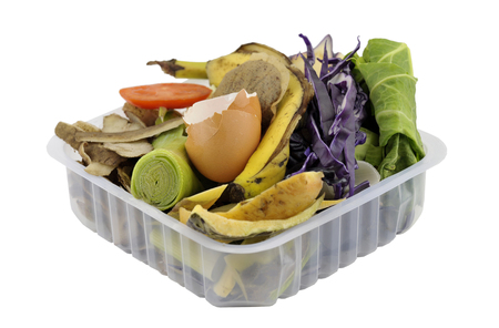 're: Fruit and vegetable household kitchen food waste, collected in re-used packaging, for composting.