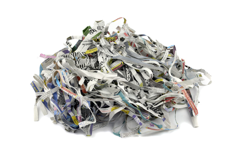 're: Shredded newspaper for re-use as packing material, animal bedding, garden mulch and composting.