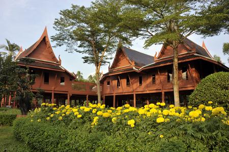 Amphawa Cultural Heritage Museum in King Rama II memorial park, Samut Songkram province, Thailand. Stock Photo