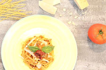 Pasta in tomato sauce Editorial