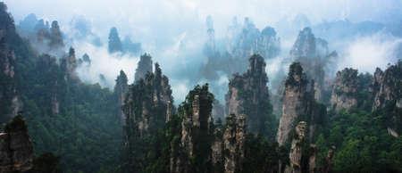 峰の張り家界国立森林公園、中国