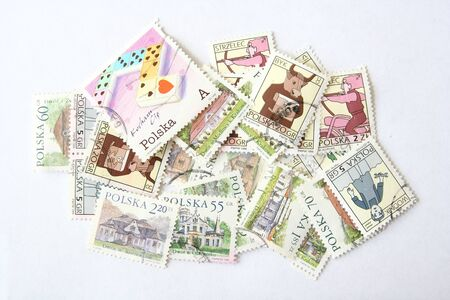 postage: Postage stamps from Poland