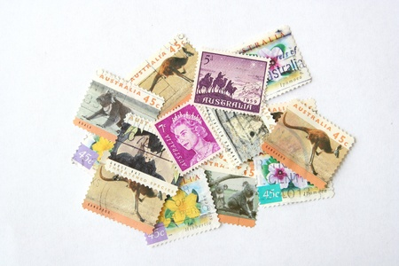 Postage stamps from Australia