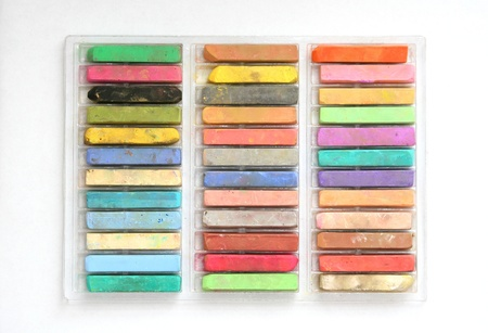 chalks: Artist chalks Stock Photo
