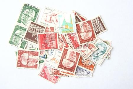 postage: German postage stamps Stock Photo