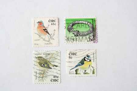 Postage stamps from Ireland Stock Photo