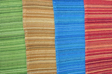 4 colors of woven fabrics