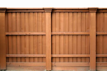 Solid wood fence photo