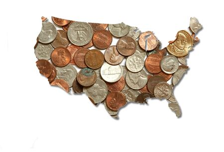 USA in coins Stock Photo - 9442957