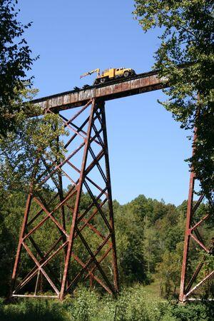 trestle: Train trestle repair Stock Photo
