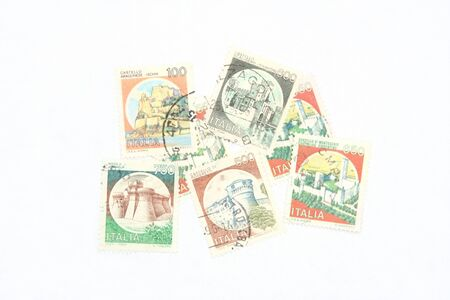 postage: Postage stamps from Italy