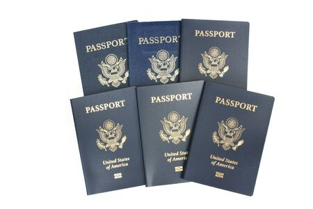Six USA passports Stock Photo - 9576212