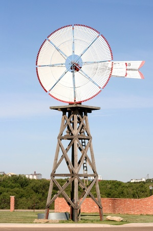 Old fashioned wind mill photo