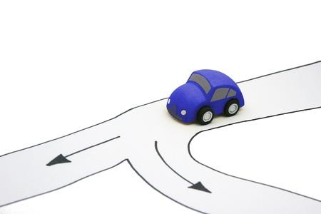 split road: Fork in the road