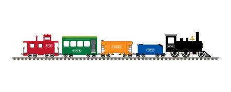 번호 기차 스톡 콘텐츠