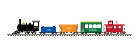 tren caricatura: Español número tren