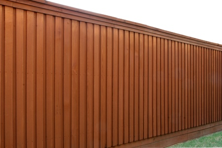 panel: Angle view of cedar fence