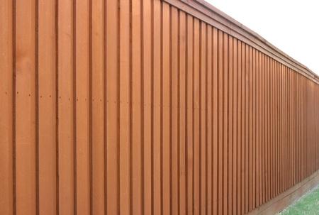 Angle view of cedar fence