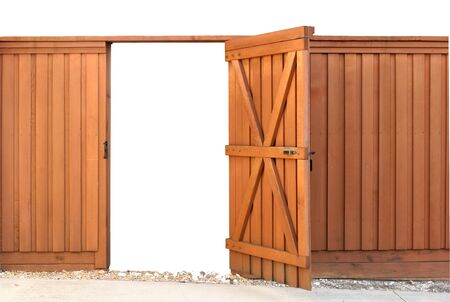 Opening gate in a wood fence Stock Photo - 9886018