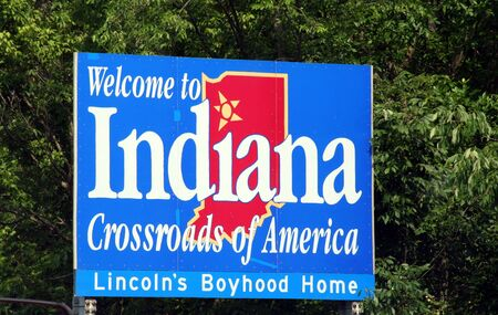 Welcome to Indiana roadsign
