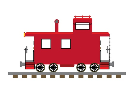 caboose: Train caboose illustration