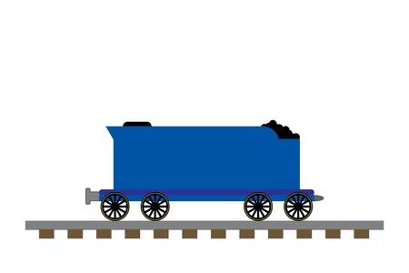 기차 석탄 자동차 그림 스톡 콘텐츠