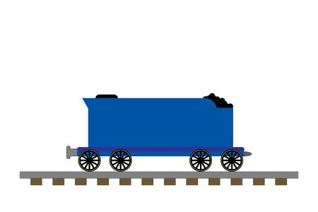 Train coal car illustration Stock Photo